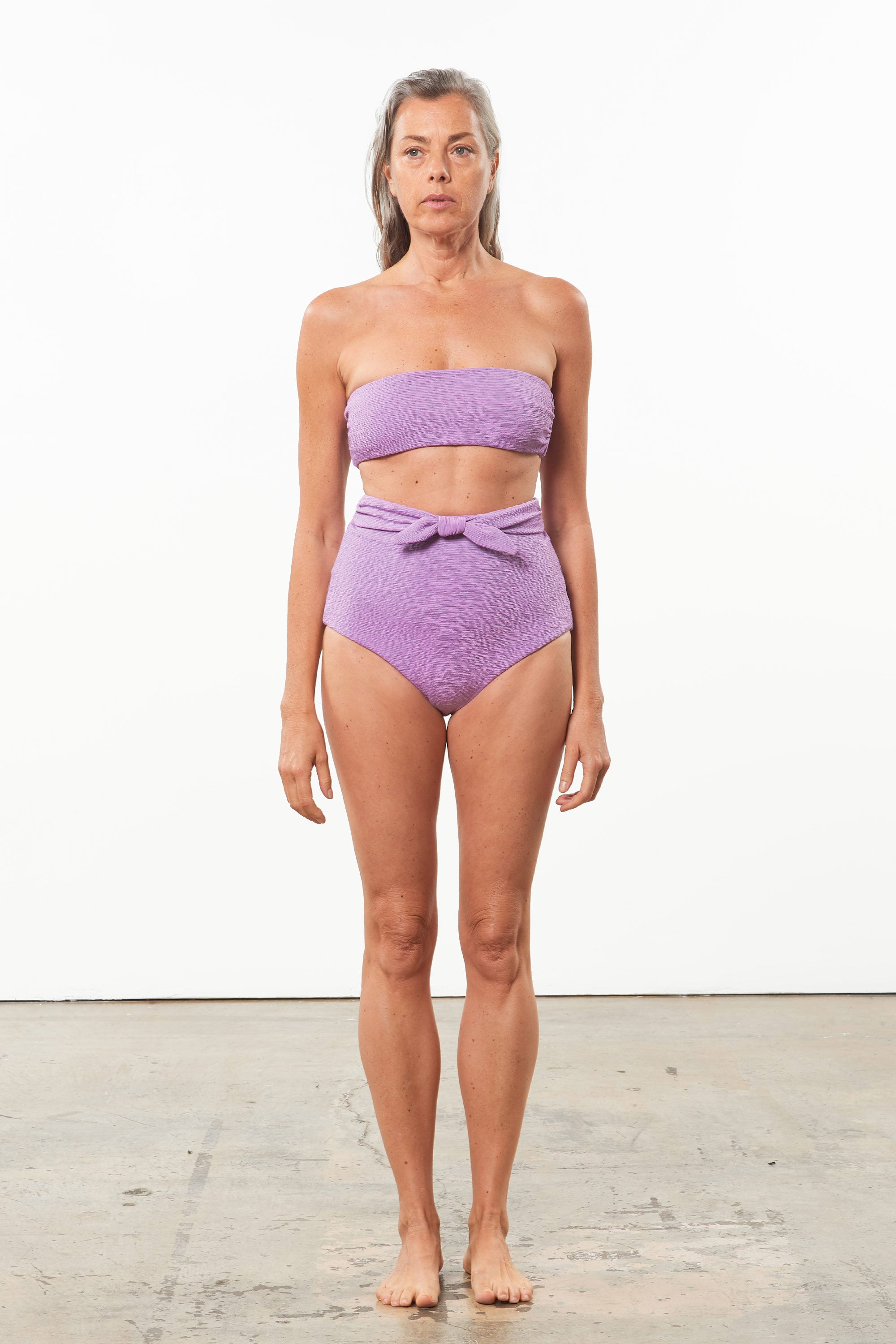 Mara Hoffman Lavender Abigail Bikini Top in polyester (front)
