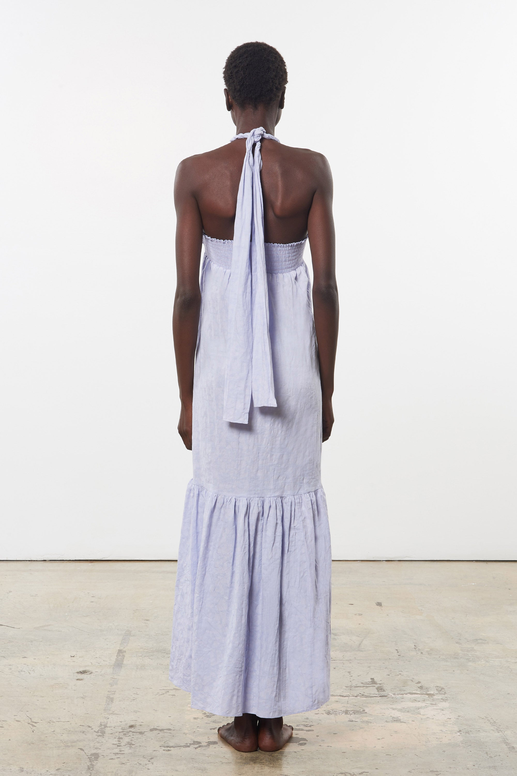 Mara Hoffman Lavender Basilia Cover Up Dress in organic cotton and linen (back)