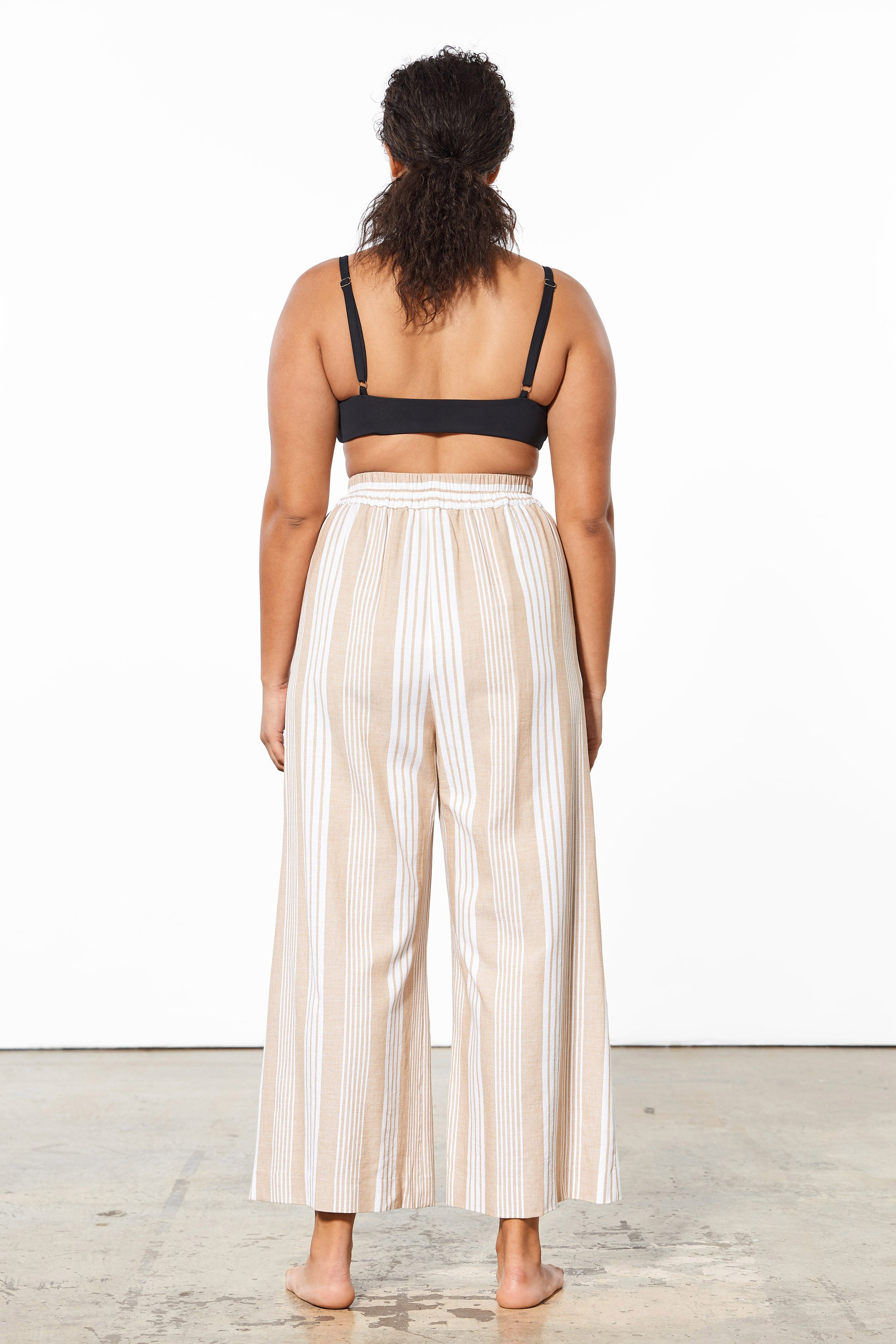 Mara Hoffman Extended White Sand Paloma Cover Up Pant in TENCEL Lyocell and organic cotton (back)