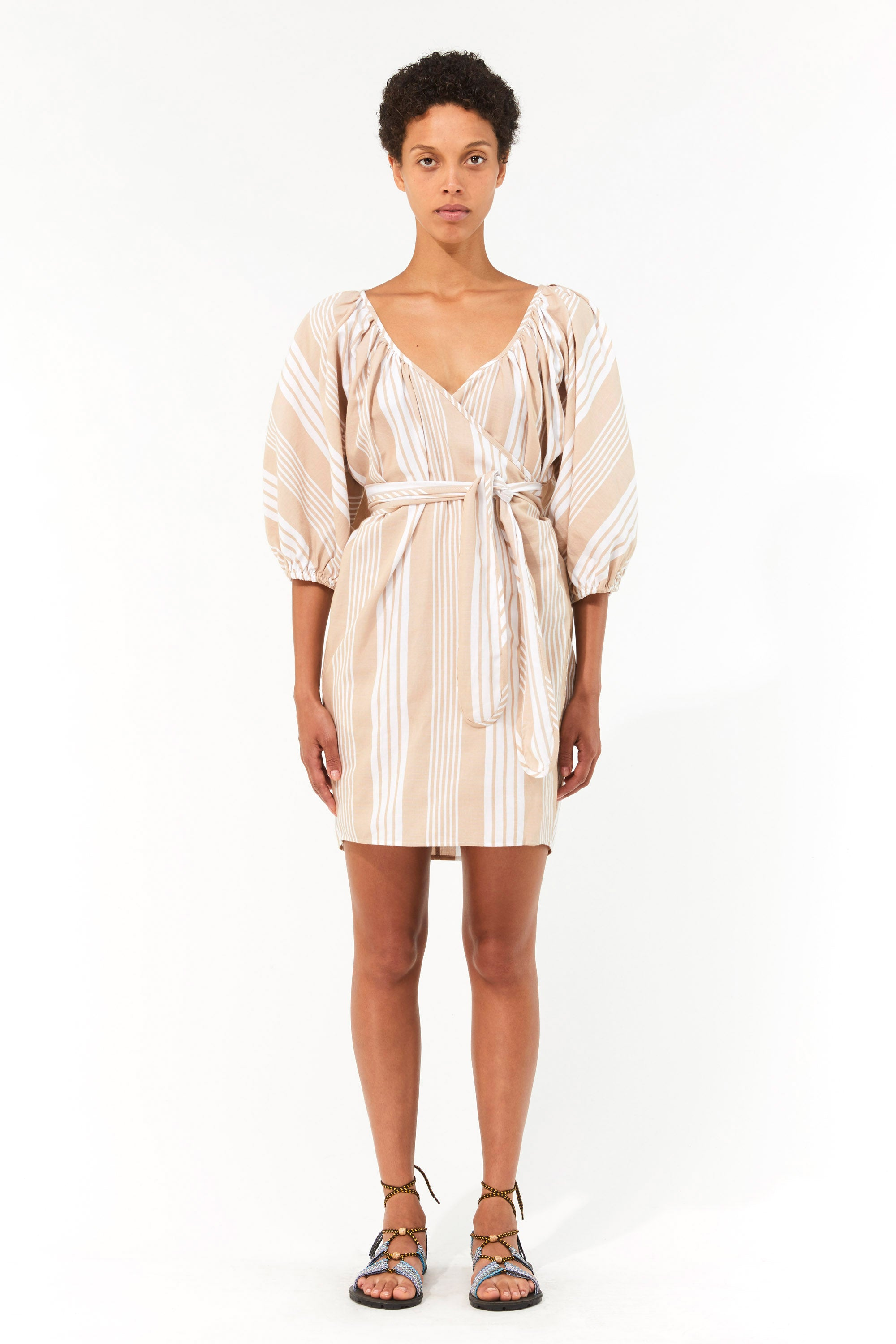 Mara Hoffman White Sand Coletta Cover Up Dress in TENCEL Lyocell and organic cotton (front)