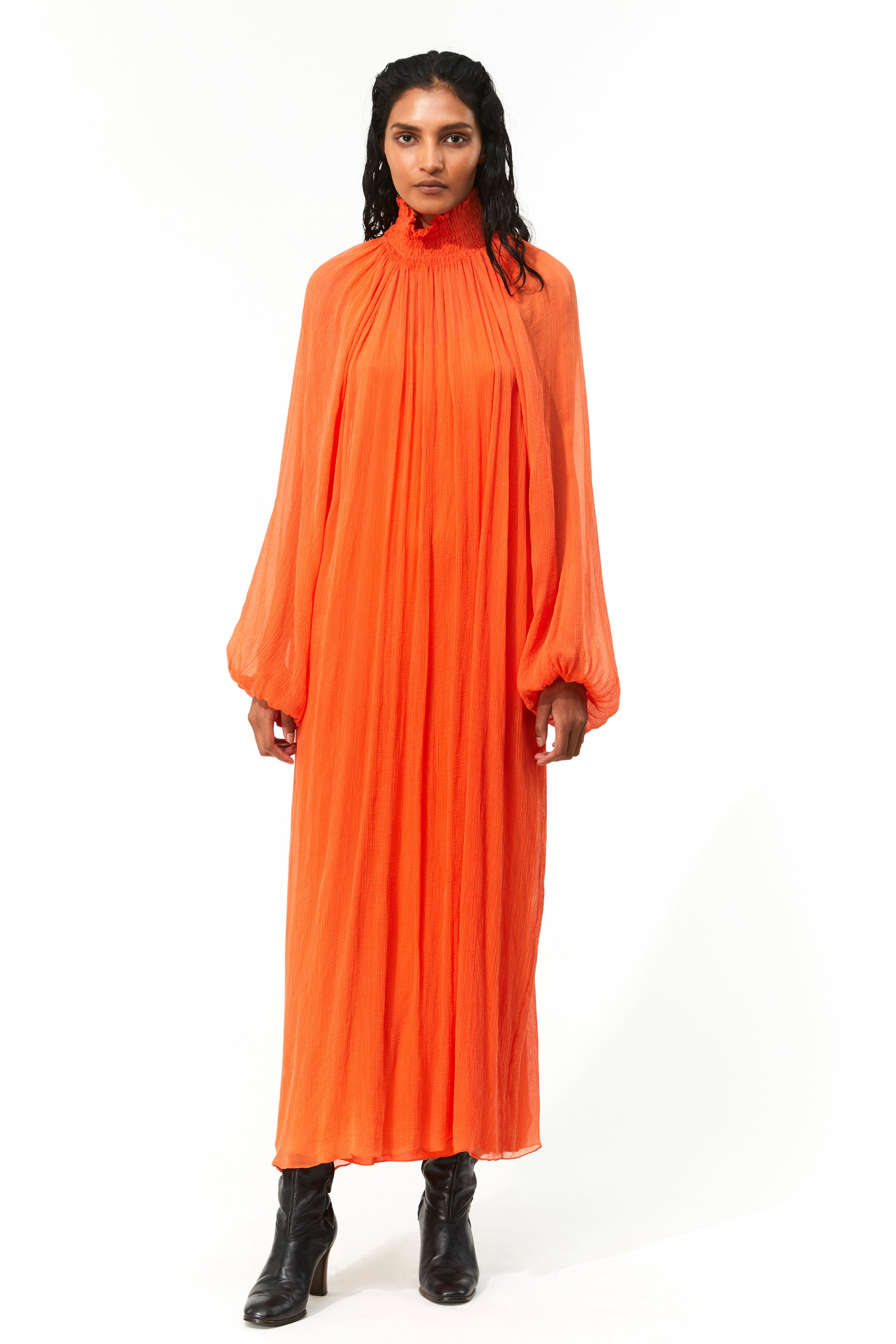 Mara Hoffman Orange Edmonia Dress in Tencel Luxe (front)