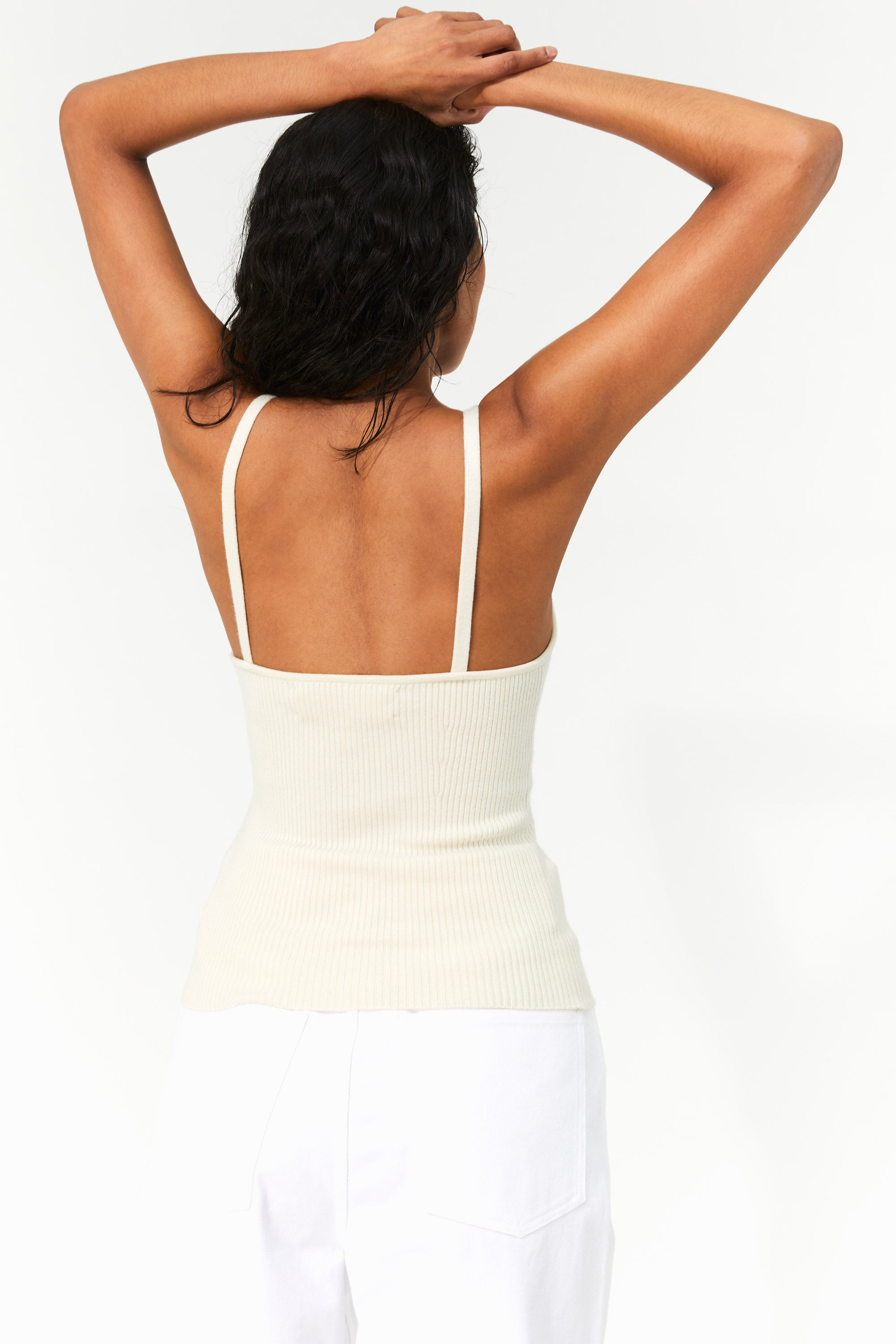 Mara Hoffman Cream Caro Sweater in Tencel Modal (back)