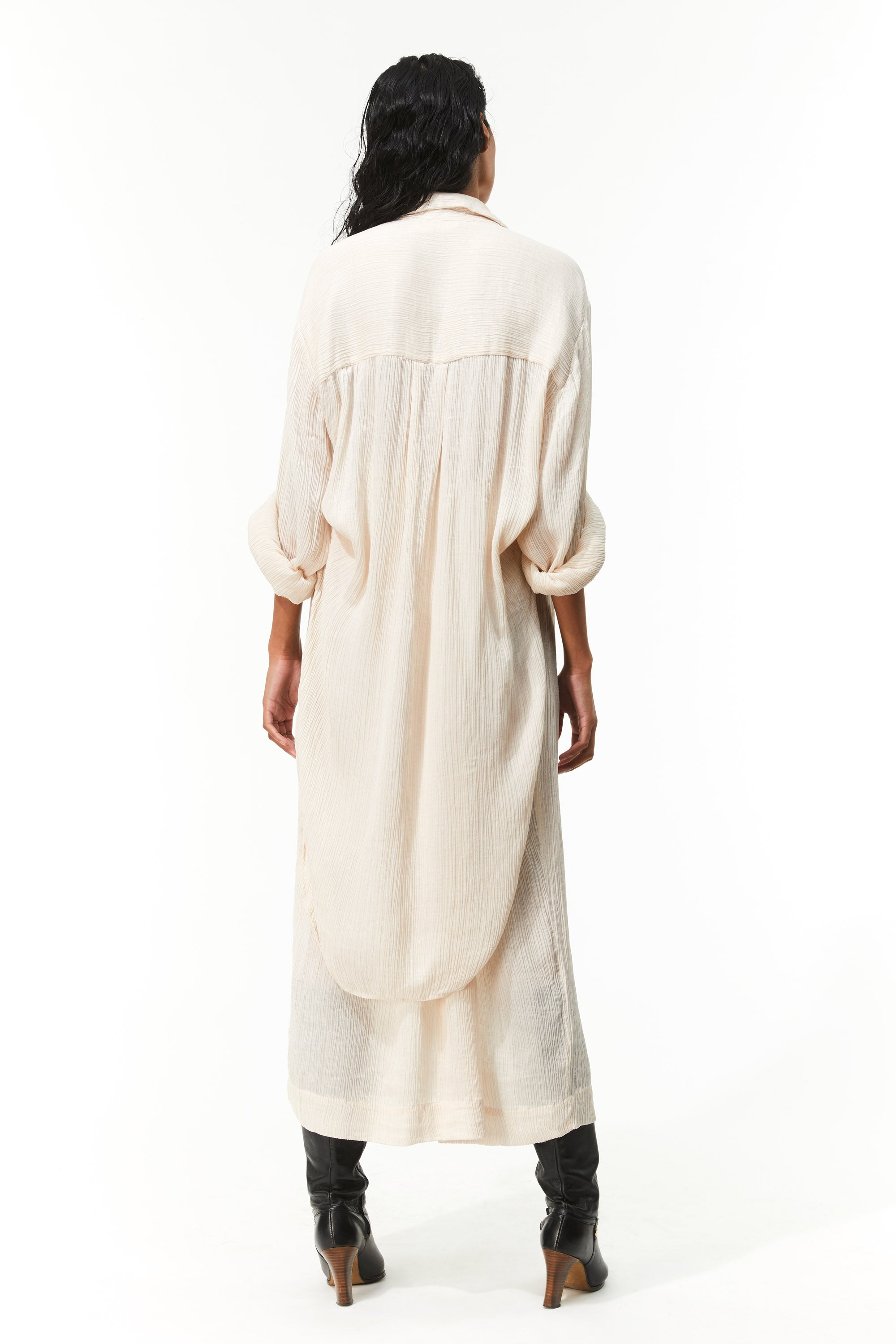 Mara Hoffman Ivory Agata Dress in Tencel Lyocell (back)