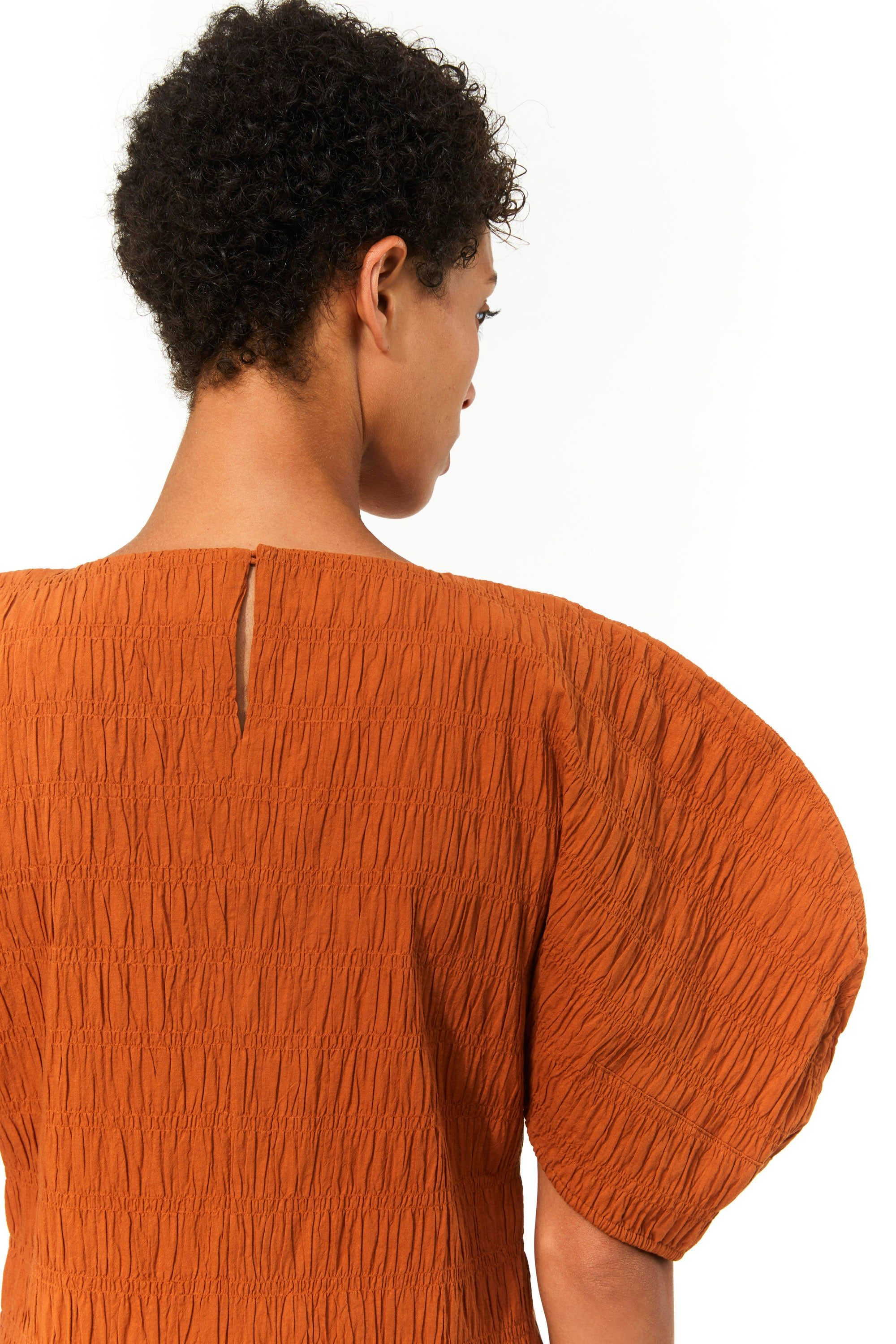Mara Hoffman Brown Aranza dress in organic cotton (back detail)