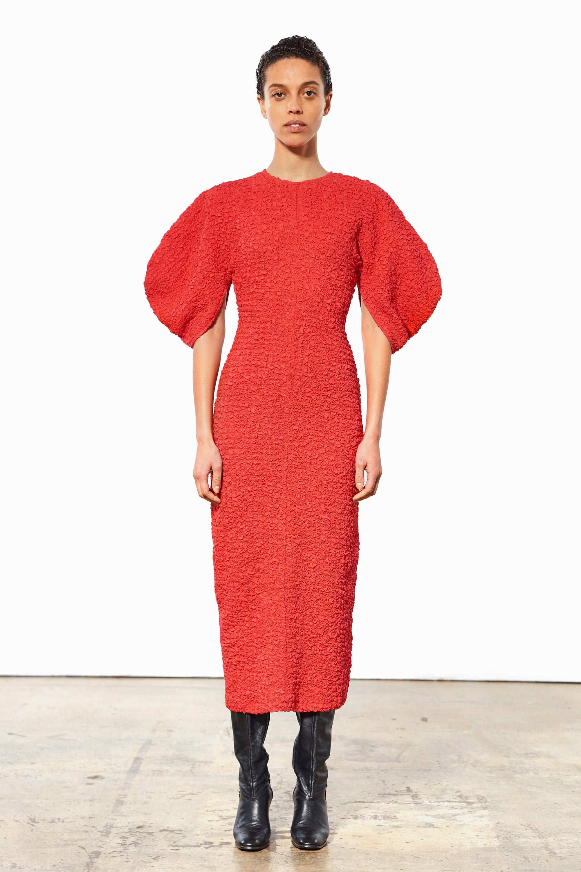 Mara Hoffman Red Freya Dress in elastic lenzing modal (front)