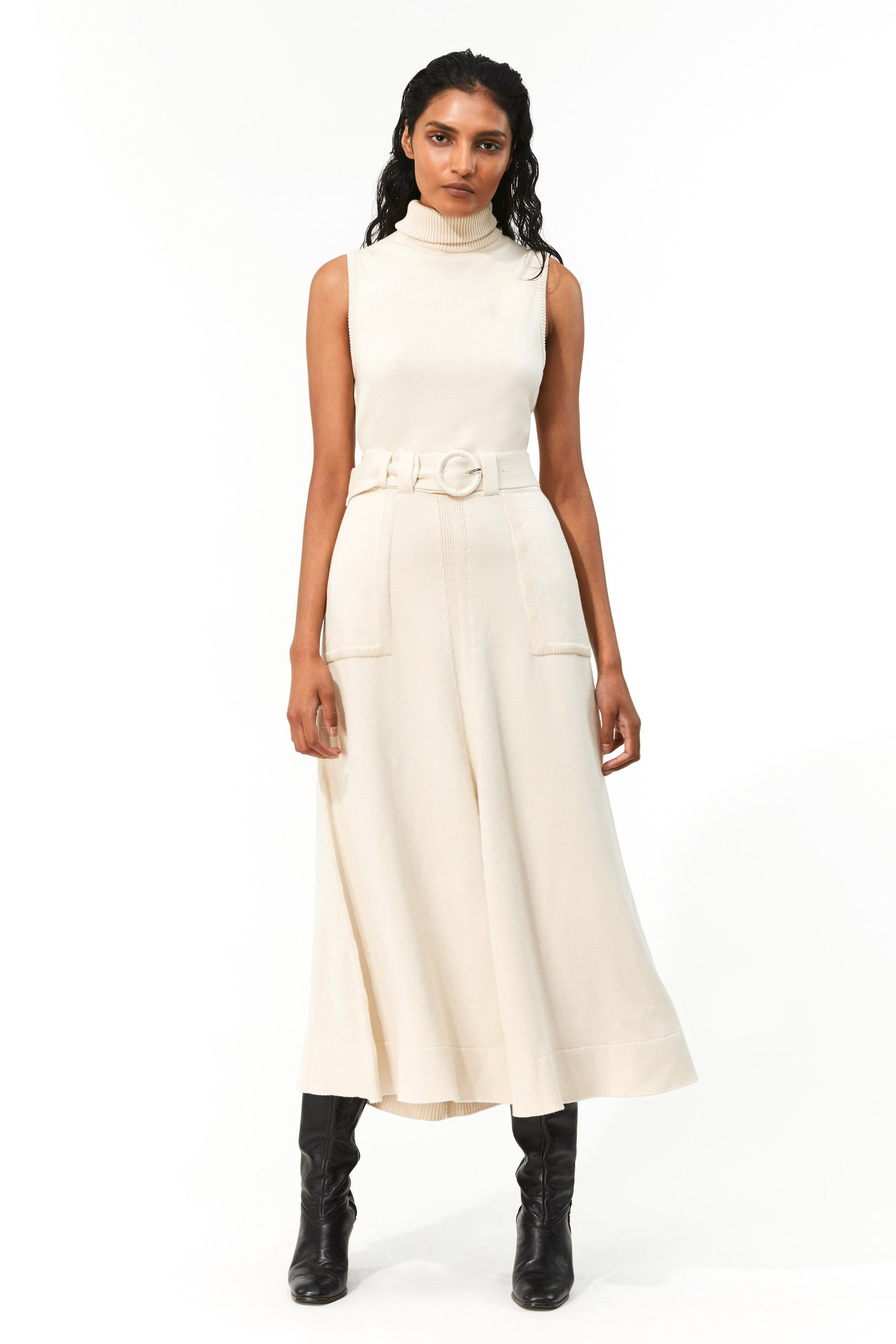 Mara Hoffman Ivory Elle Dress in organic cotton (front)