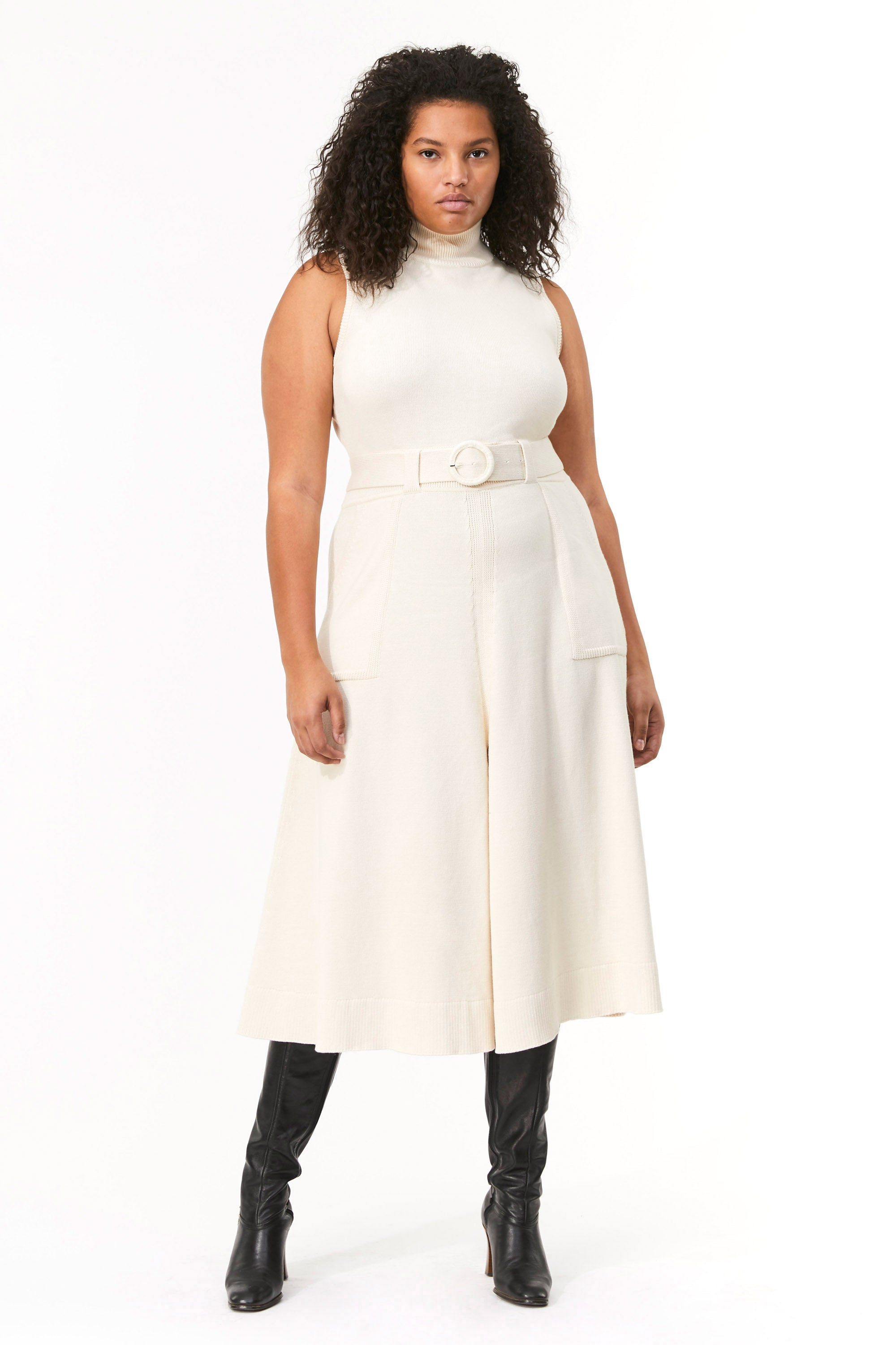 Mara Hoffman Extended Ivory Elle Dress in organic cotton (front)