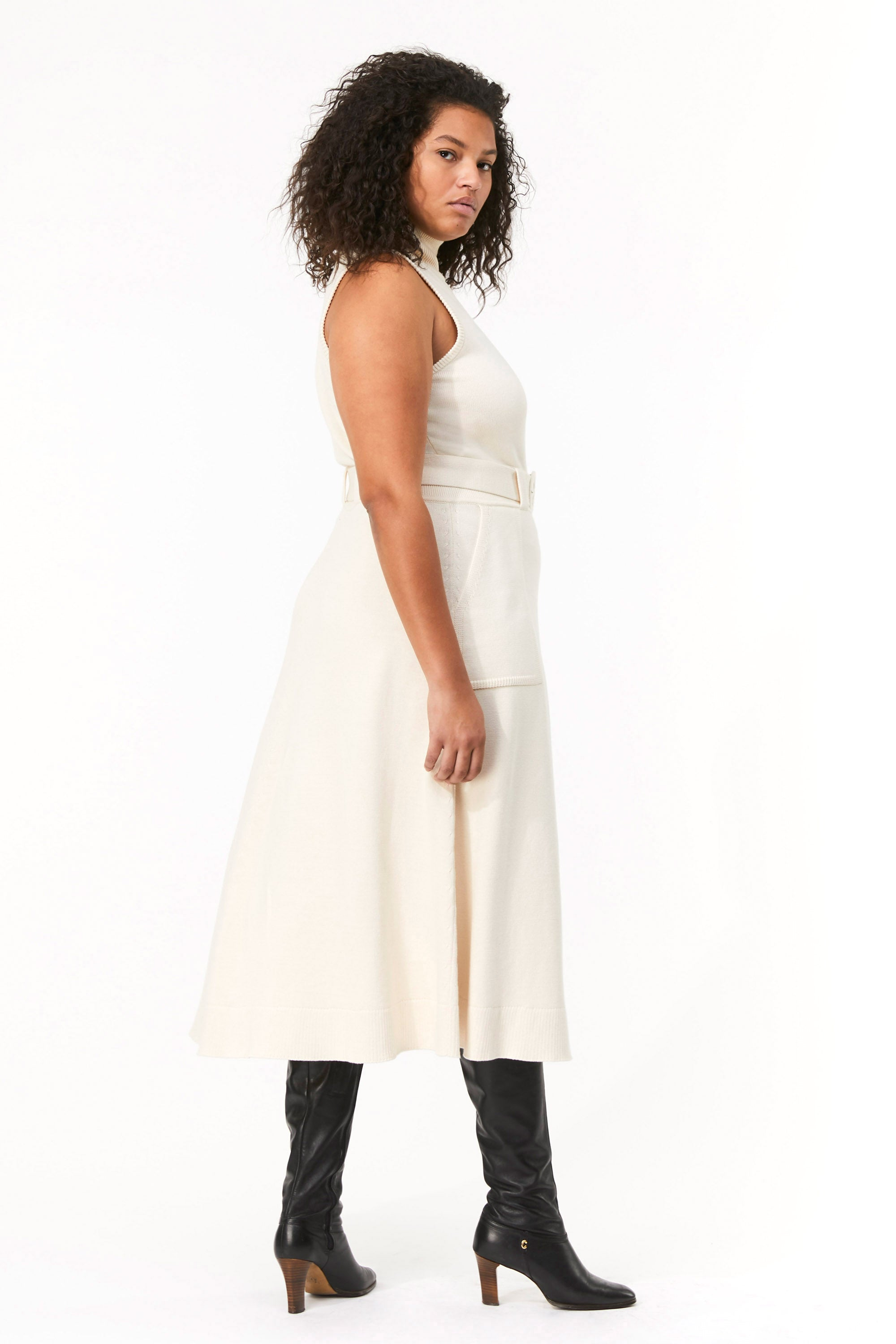 Mara Hoffman Extended Ivory Elle Dress in organic cotton (side)