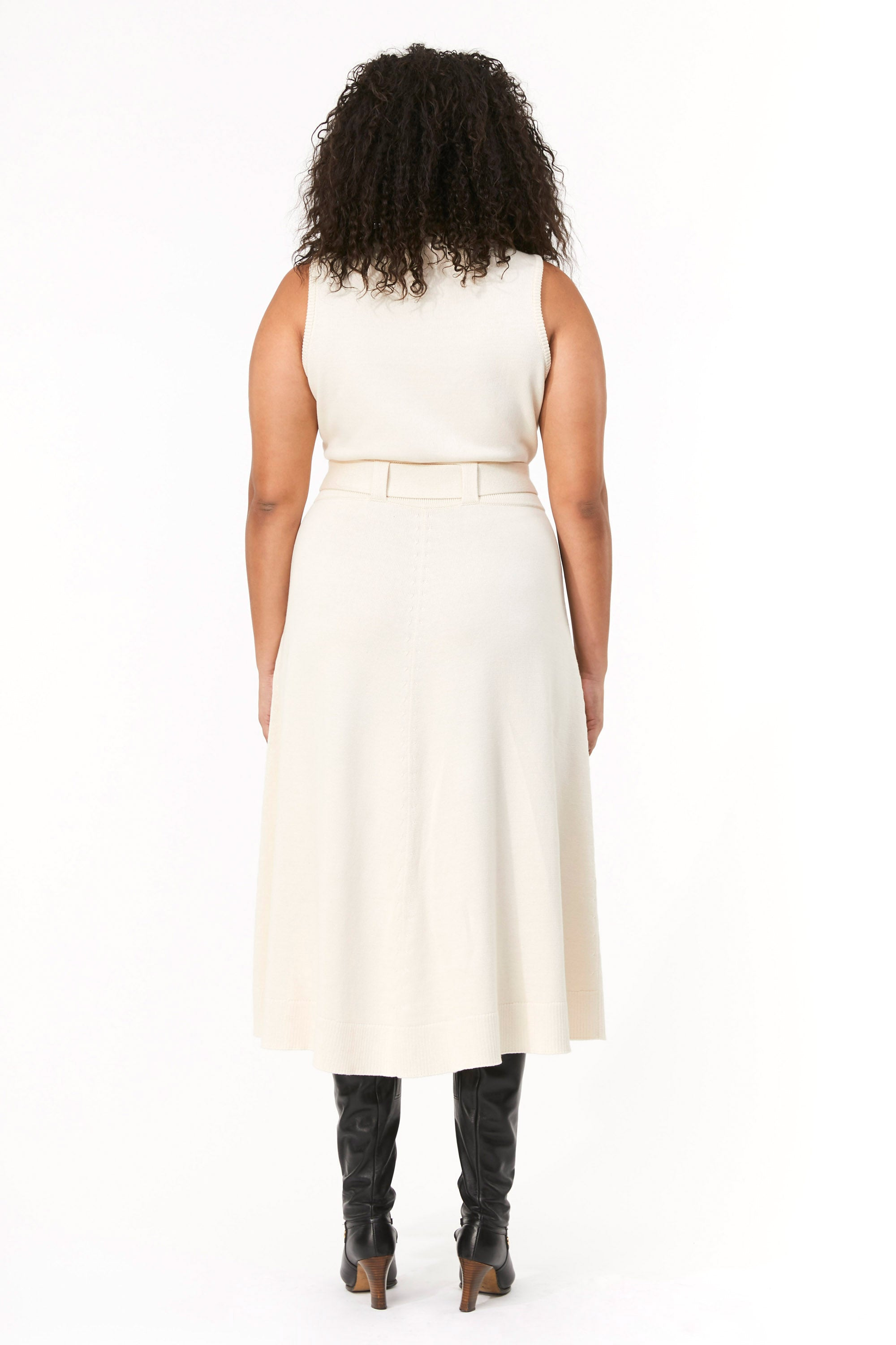Mara Hoffman Extended Ivory Elle Dress in organic cotton (back)
