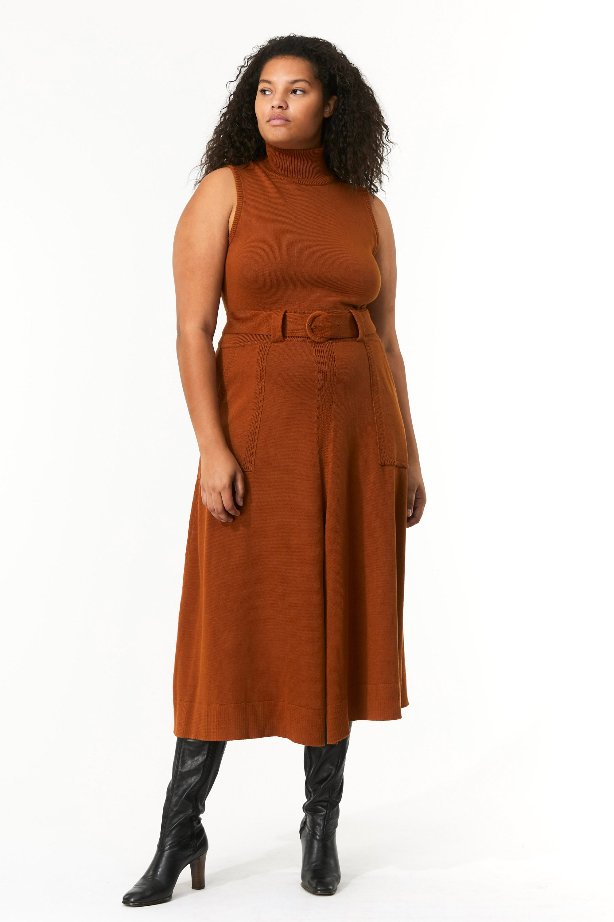Mara Hoffman Extended Rust Elle Dress in organic cotton (front)