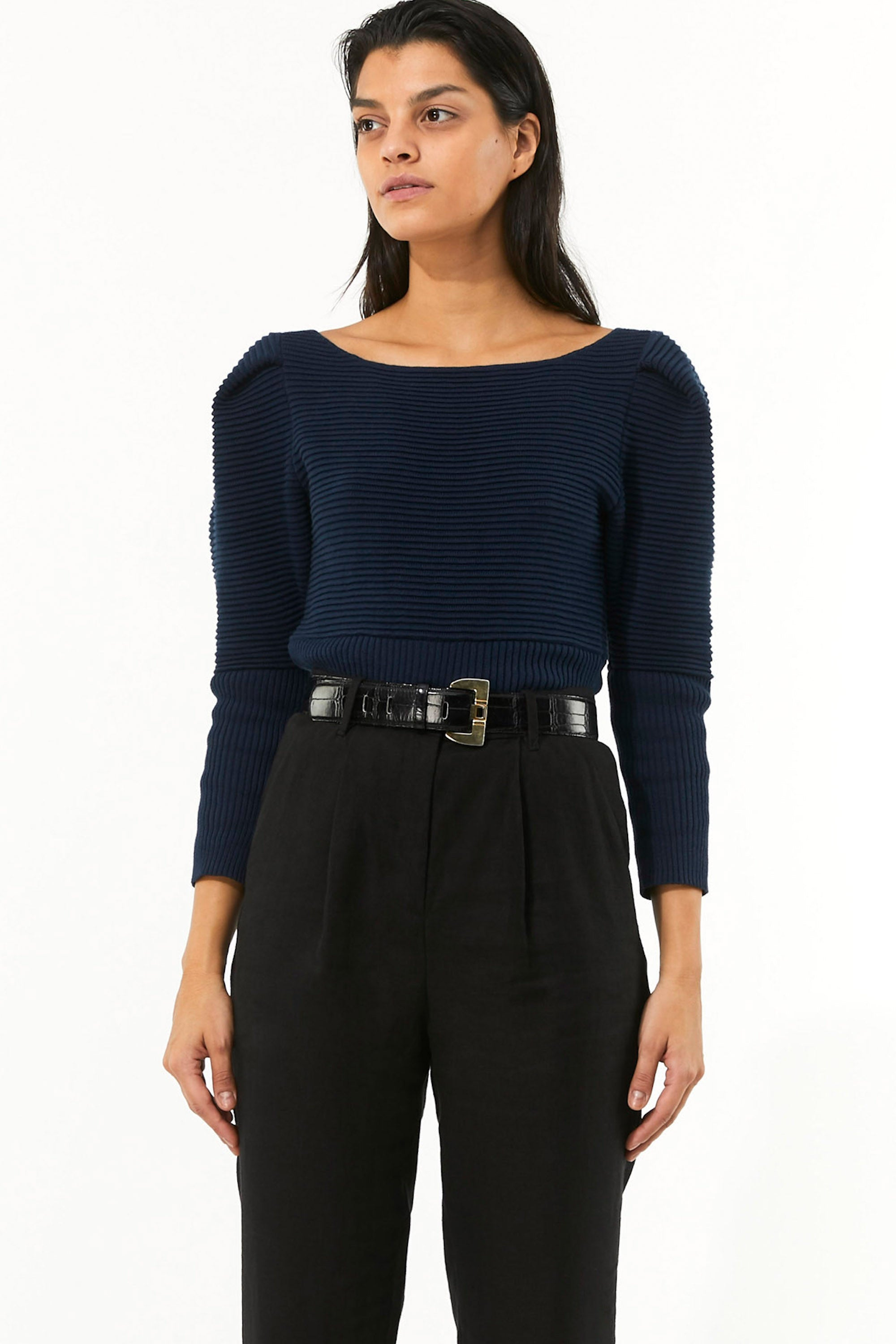 Mara Hoffman Indigo Helena Sweater in organic cotton (with belt)