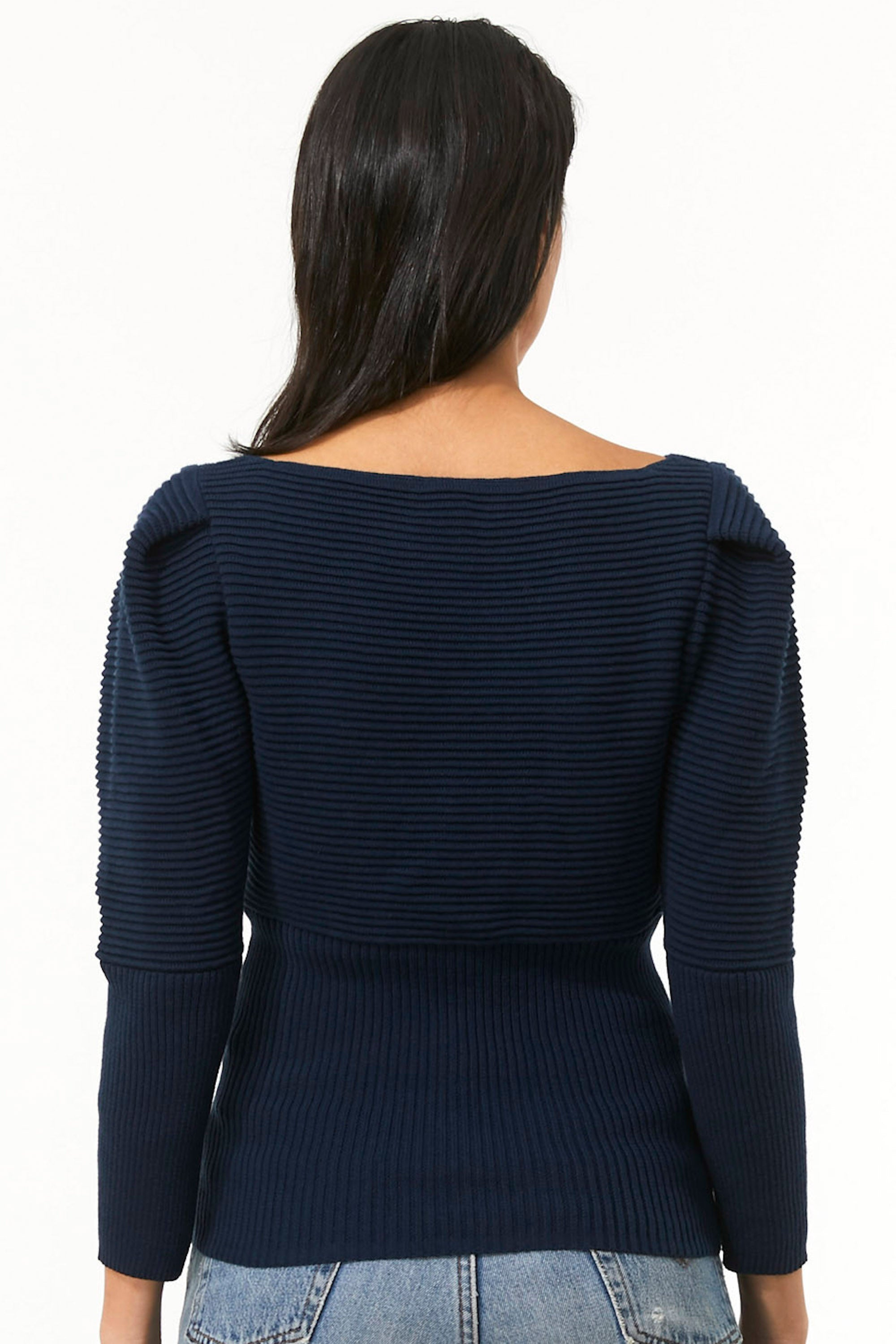 Mara Hoffman Indigo Helena Sweater in organic cotton (back)