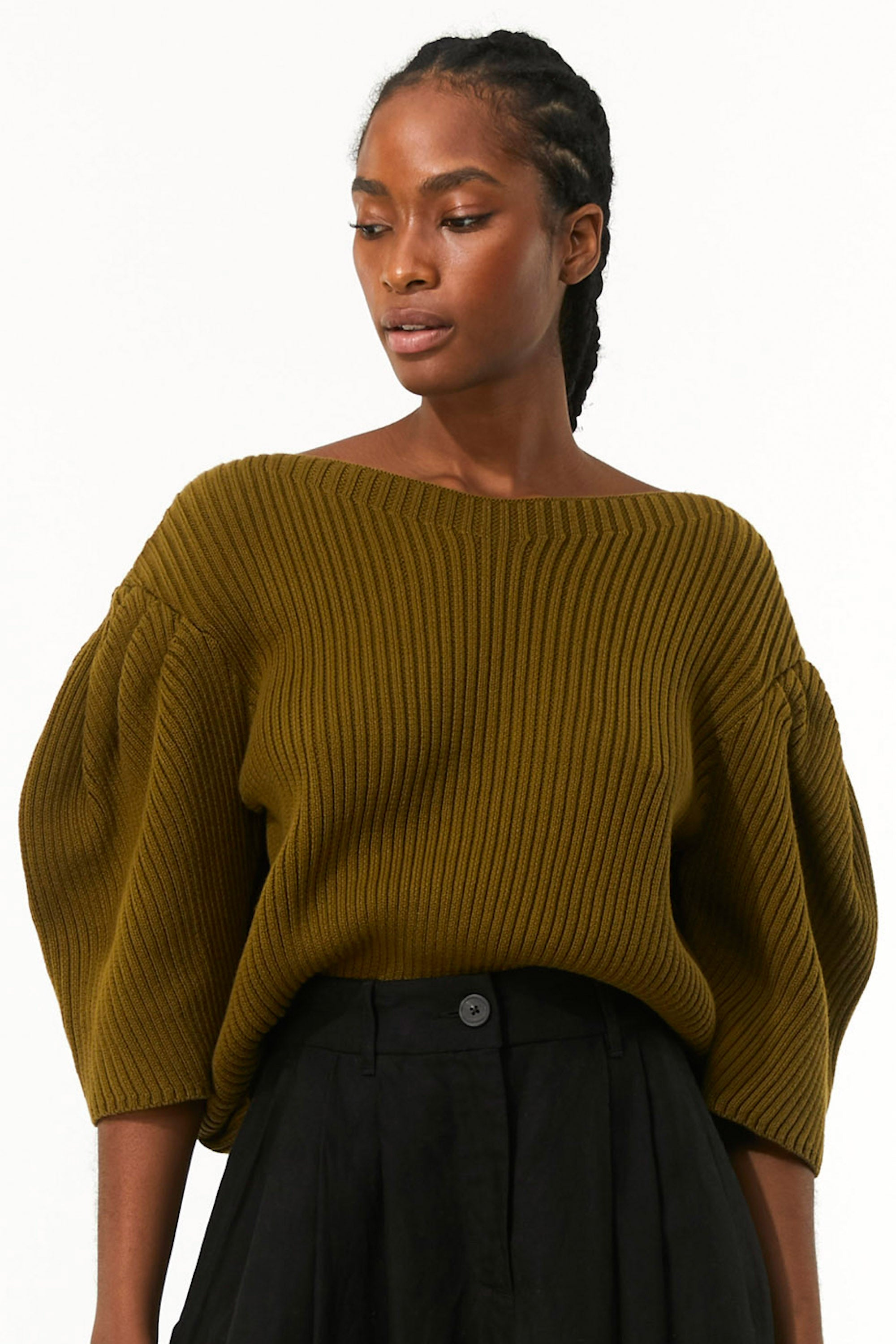 Mara Hoffman Olive Inga Sweater in organic cotton (front detail)