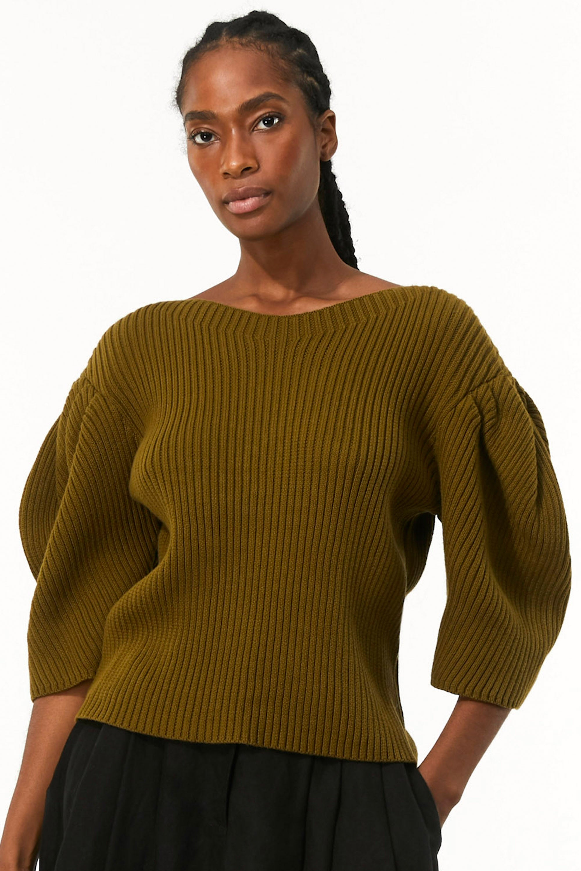 Mara Hoffman Olive Inga Sweater in organic cotton (detail)