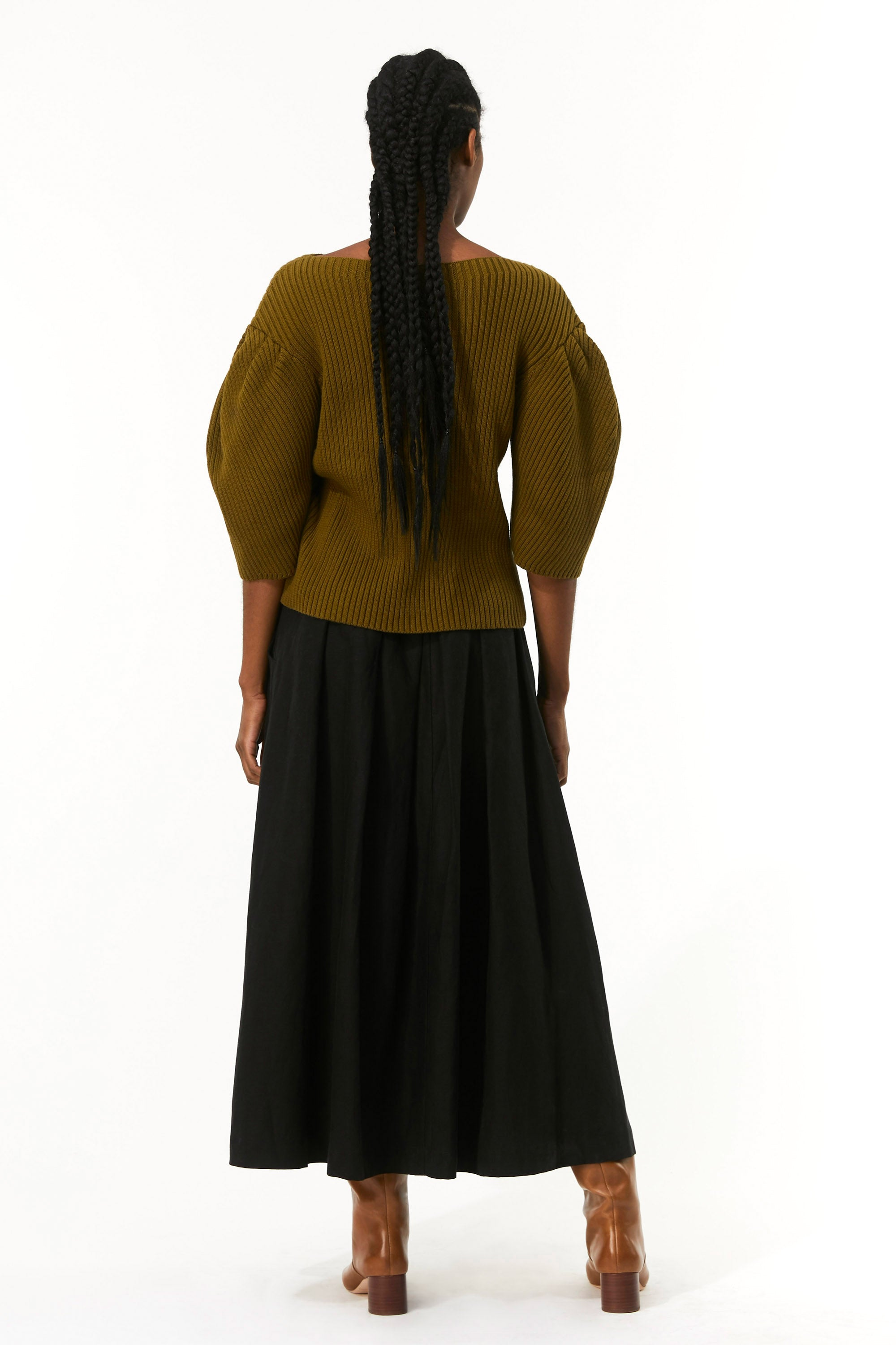 Mara Hoffman Olive Inga Sweater in organic cotton (back)