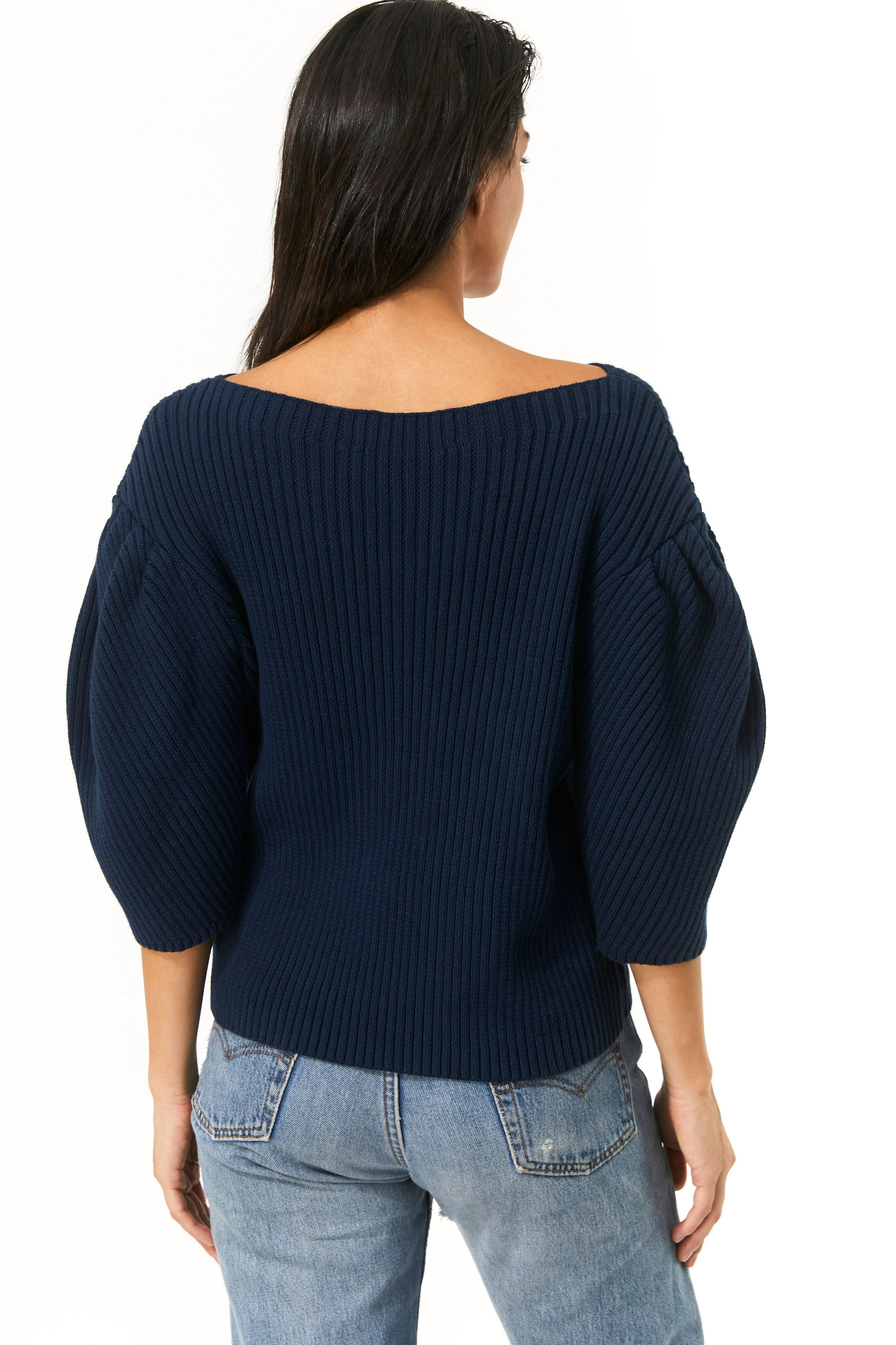 Mara Hoffman Indigo Inga Sweater in organic cotton (back)