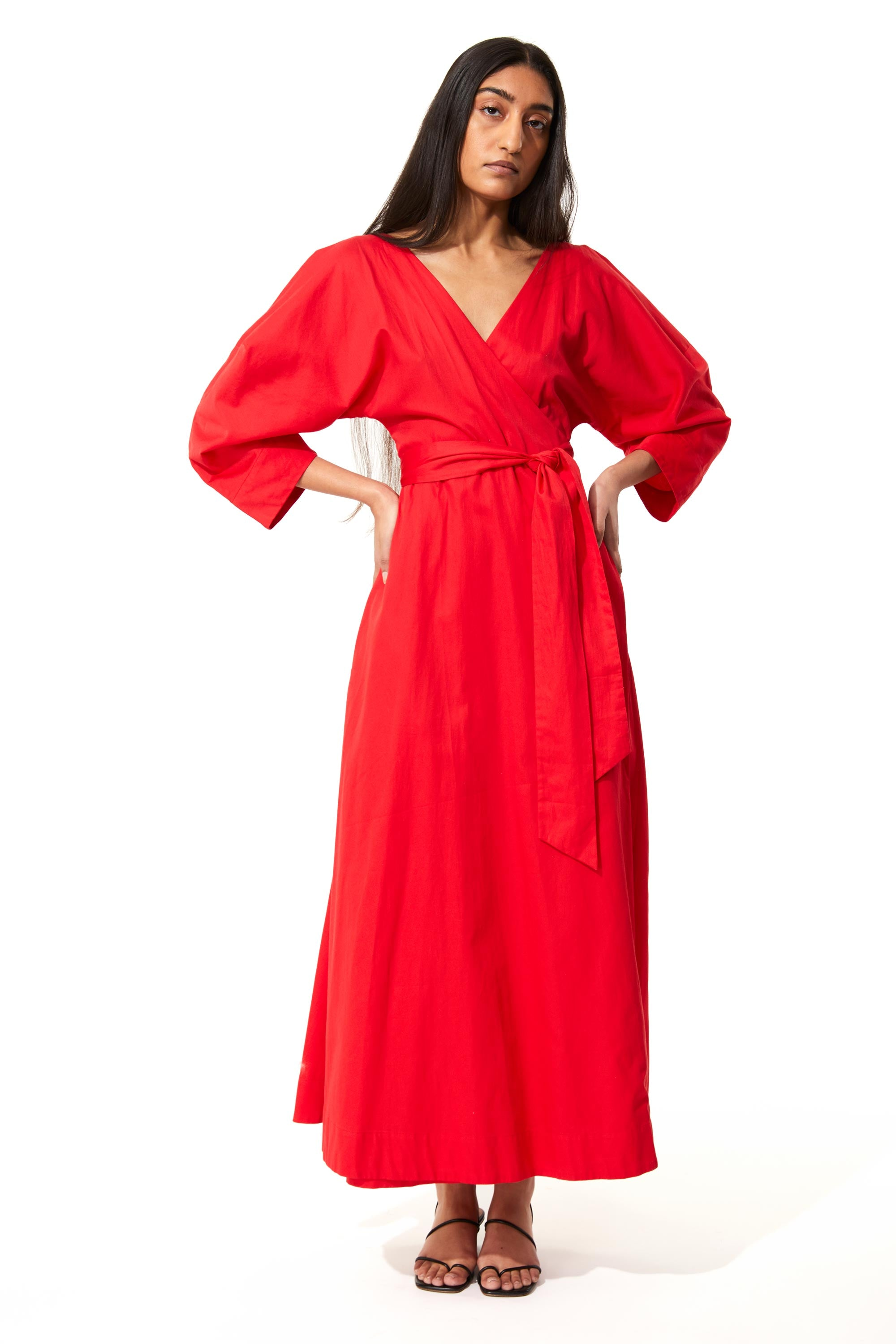 Red Agnella Dress