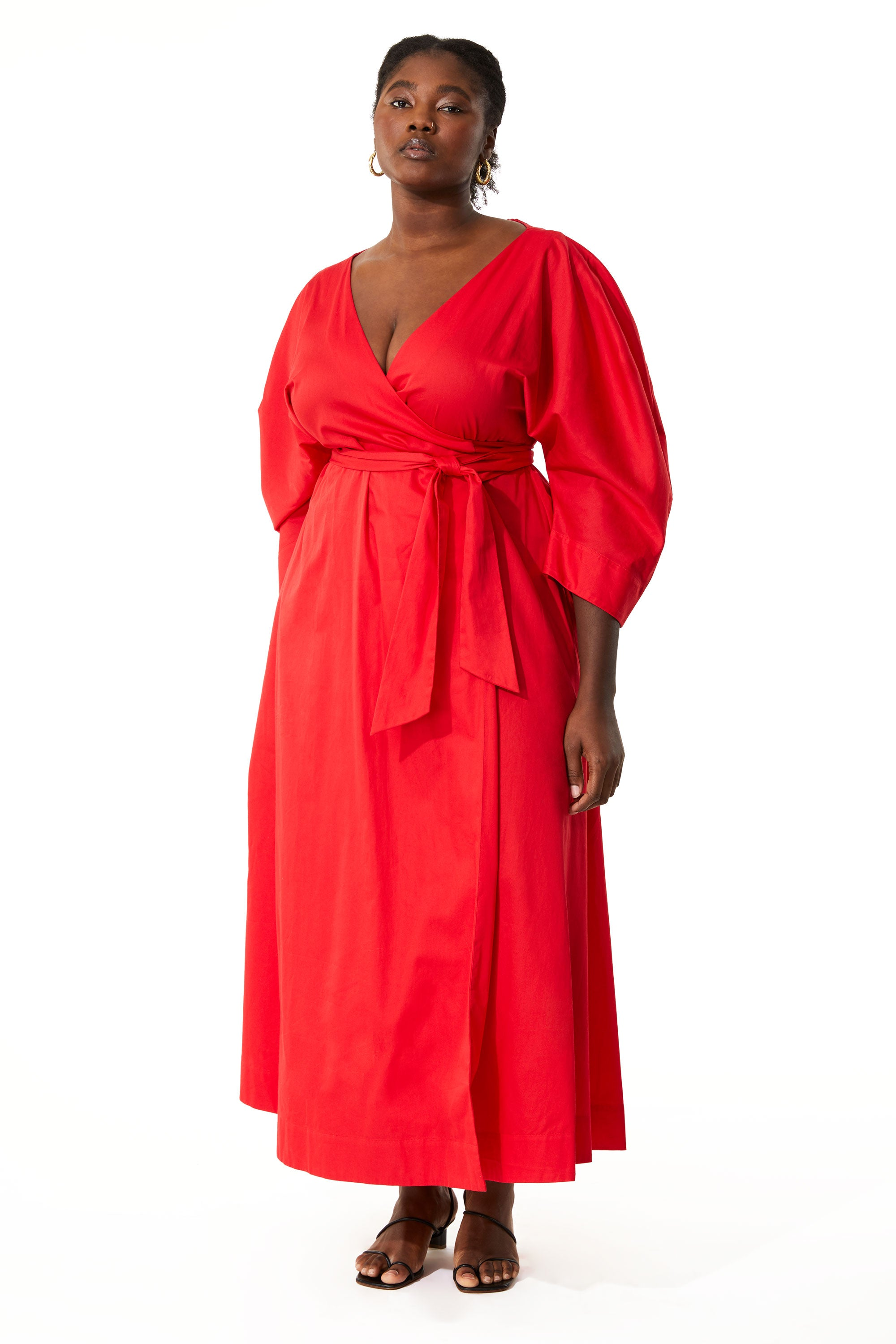 Red Extended Agnella Dress