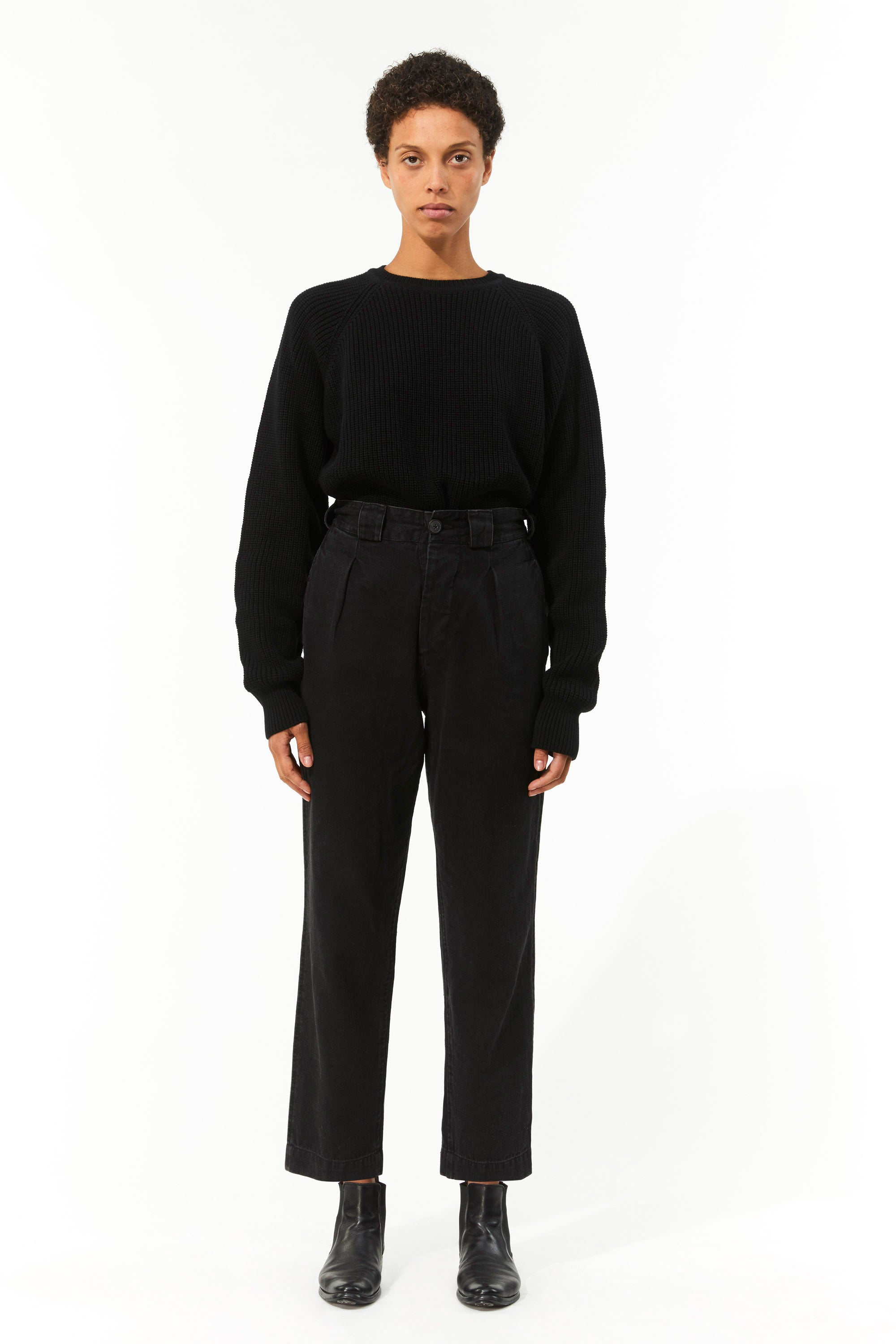 Mara Hoffman Black Jade Pant in hemp and organic cotton (front)
