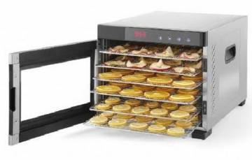 Samson Silent Dehydrator 6 Tray Stainless Body Glass Door