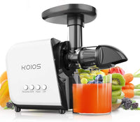 White & Black colored masticating juicer
