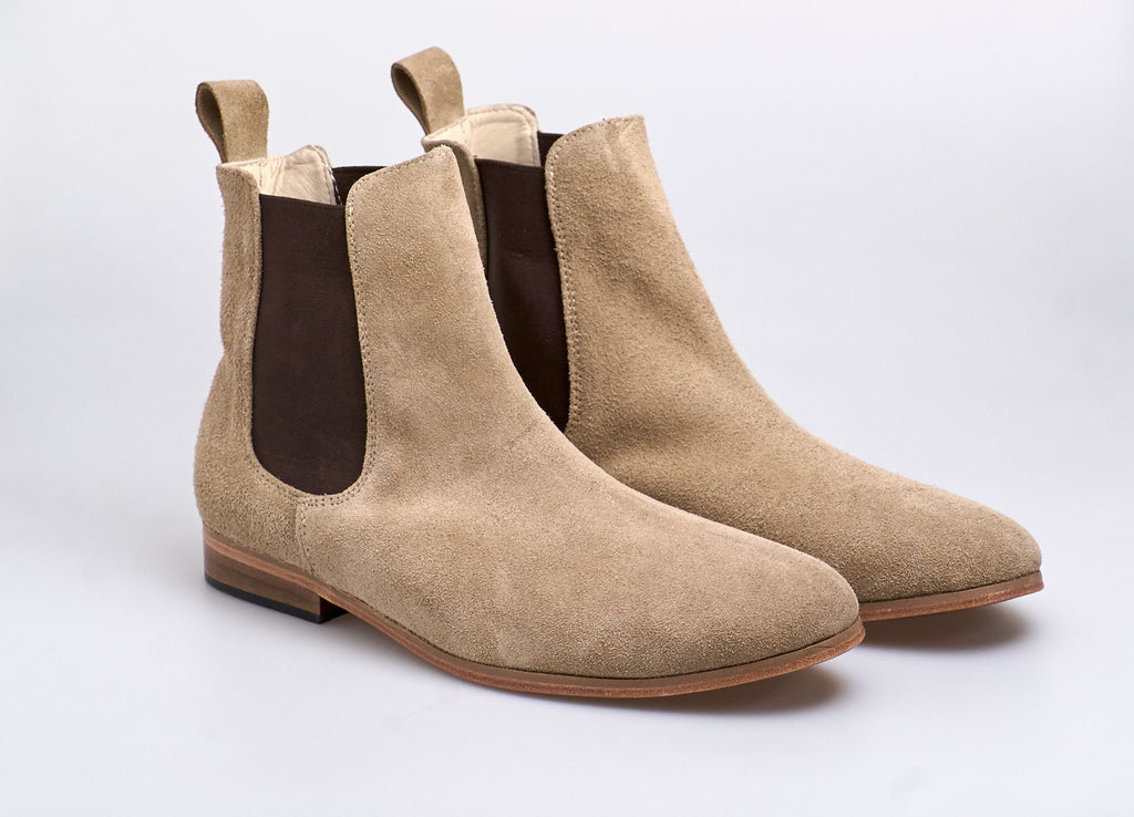 Chelsea Boot Suede Camel