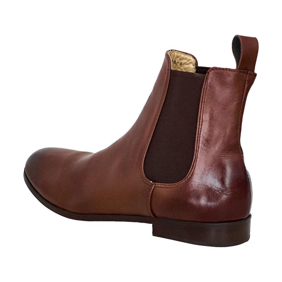 Chelsea Brown Leather Boots