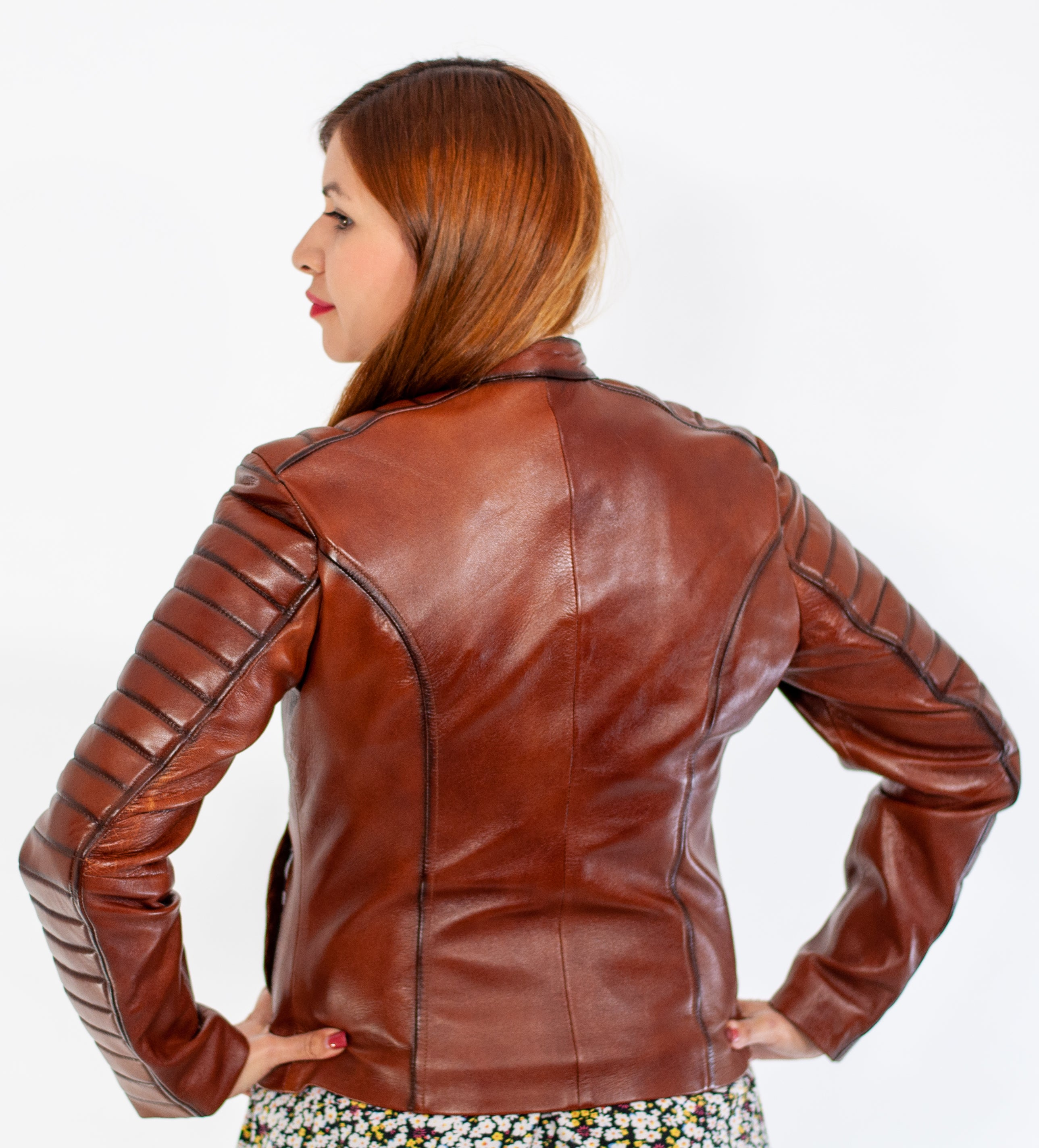 Estella Brown Leather Jacket