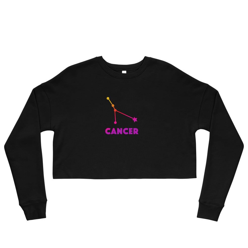 Pink Ombre Crop Sweatshirt - Cancer