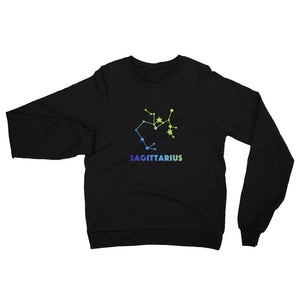 Blue Ombre Unisex California Fleece Raglan Sweatshirt - Sagittarius