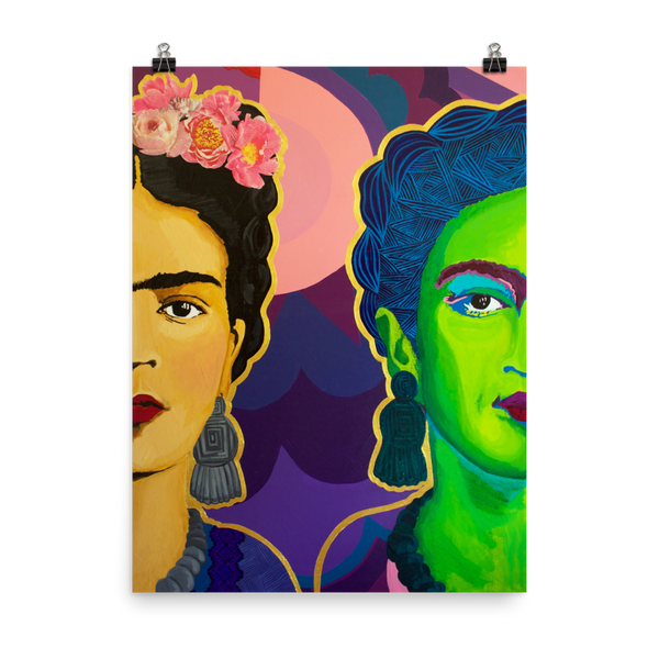 Frida Split in Two Premium Art Print