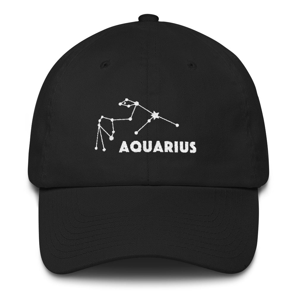 Constellation Curved Visor Cotton Cap - Aquarius