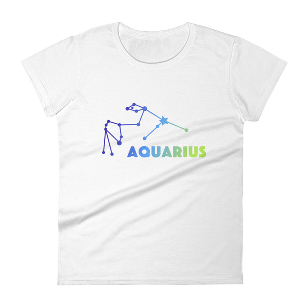 Blue Ombre Women's short sleeve t-shirt - Aquarius