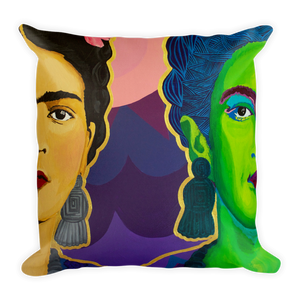 Frida Split in Two Premium Throw Pillow