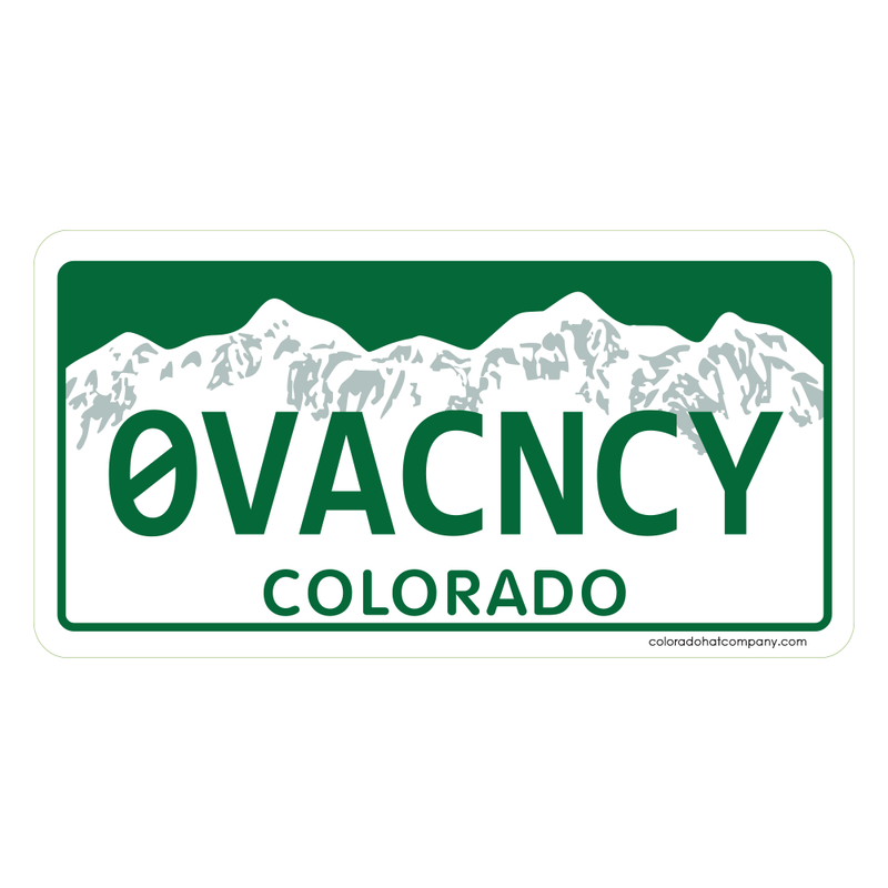 Zero Vacancy Sticker