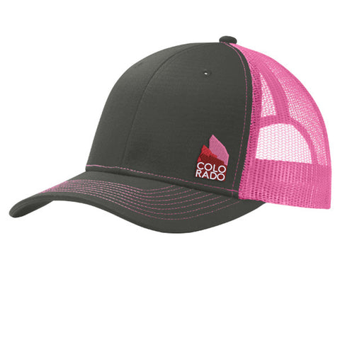 Red Rocks Trucker Hat - Grey Steel Pink