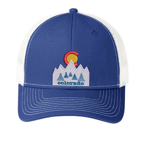Blue Colorado Trucker Hat - Patriot Blue White