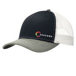 Colorado Pride Snap Back Trucker Hat -Navy & Heather Grey