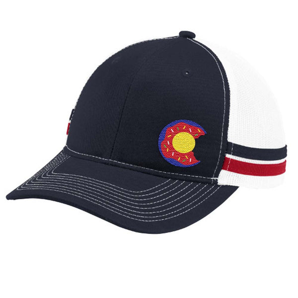 Colorado Donut Trucker Hat - Flame Red White