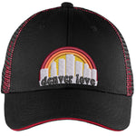 Denver Love Trucker Hat - Black & Red