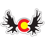Colorado Moose Antlers Sticker