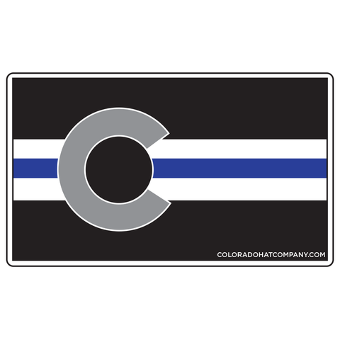 Colorado Police Flag Sticker