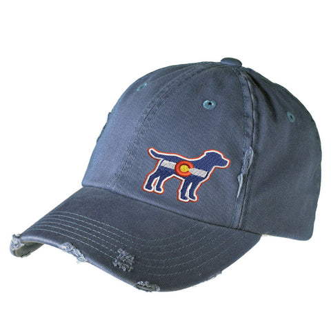 Colorado Lab Distressed Cap - Scottland Blue - Side Embroidery