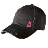 Red Rocks Trucker Hat - Black Distressed