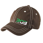 303 Thick Stitch Distressed Cap - Chocolate
