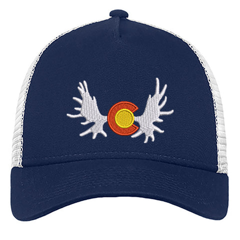 Colorado Moose_Trucker - Deep Navy - White