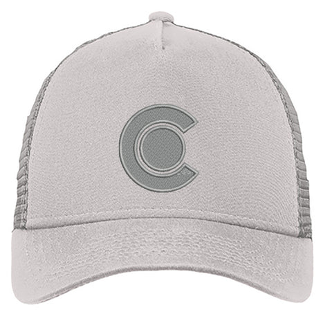 Colorado C Snap Back Trucker Grey on Grey