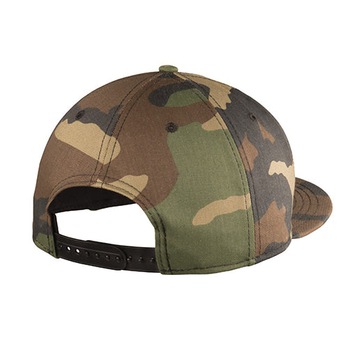 Colorado C- Gold- Flat Bill Snap Back Hat - Camo Green