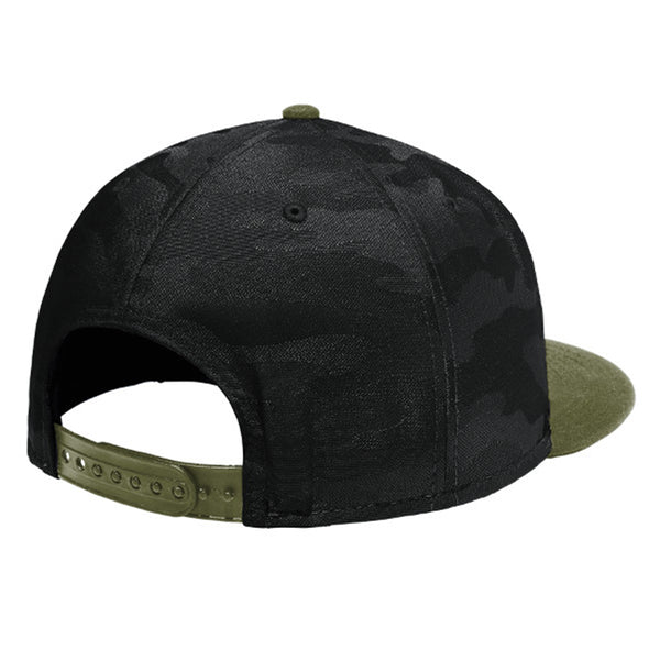 Colorado Native Arrow - Flat Bill Snap Back Hat - Army Green - Black Camo