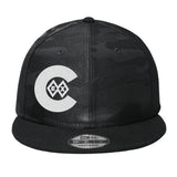 Black Diamond Flat Bill Snap Back Hat - Black Camo